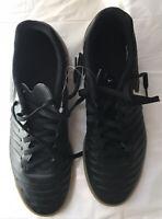 Nike Tiempo Men's 8.5 Black Indoor Soccer Shoes 897769-002 Sneakers