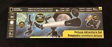 National Geographic Deluxe Adventure Set - Telescope Binoculars Microscope Gift