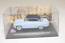 . ALTAYA IXO SIMCA ARONDE GRAND LARGE 1956 RUE DE LA PAIX BLUE MINT BOXED