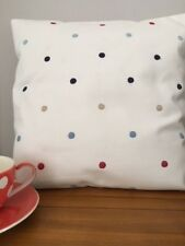 "Spotty 16"" x 16""  Cushion Cover in Reds and Blues on White"