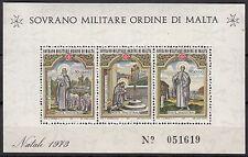 BLOC  TIMBRE MALTE NEUF SOVRANO MILITARE DI MALTA 1973