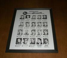 1964-65 PITTSBURGH HORNETS FRAMED ROSTER PRINT