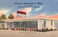 Pleasant Hill North Carolina Warrens Restaurant Antique Postcard K78688