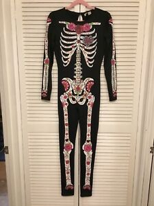 H&M DIVIDED Skeleton Stretch Jumpsuit Size M NEW.