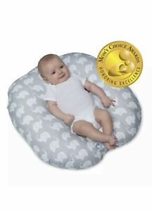 NEW Boppy Lounger for Newborn - Elephant Love Gray *READ NO BAG-TEAR*