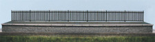 Ratio 245 GWR Spear Fencing, Black, Straights N Gauge
