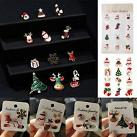 3PCS Cute Metal Lapel Pin Christmas Theme Small Brooch Set Xmas Women Jewelry