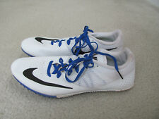 Nike Rival S Men's White, Black, and Blue Racing Spikes Size 11