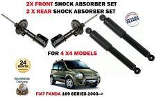 Per FIAT PANDA 1.2 1.3d 4x4 2003 - > 2x Anteriore + 2x Posteriore AMMORTIZZATORE Shocker Set