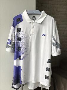 Vintage Nike Challenge Court Agassi Retro 1990's Tennis Polo Size XL