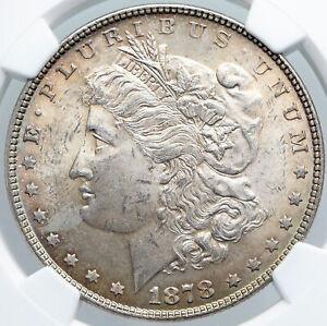 1878 UNITED STATES of America SILVER Morgan US Dollar Coin EAGLE Rare NGC i89180