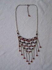 Color plata Collar - collar - negro/rojo