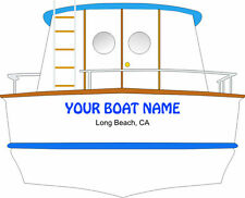 BOAT NAME DECAL SEA RAY CUSTOM VINYL DECAL YACHT NAME CHRIS CRAFT BAYLINER SAIL