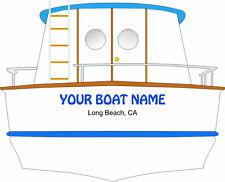 BOAT NAME DECAL SEA RAY CUSTOM VINYL DECAL YACHT NAME CHRIS CRAFT BAYLINER SAIL