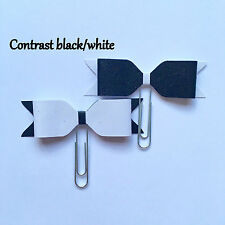 CONTRAST Glitter Bow Paper Clips (2) - Black & White stationery journal