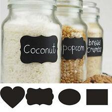 48PCS/Set Chalk Board Stickers Kitchen Candy Jar Caster Labels