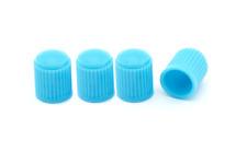 4 X Baby Blue de plástico Polvo tapas se adaptan a neumático estándar válvulas coche, furgoneta, motocicleta, Bmx