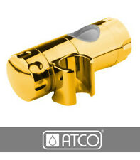 ATCO® Schieber Gleiter für Duschstange Brausestange Wandstange Ø 25mm gold