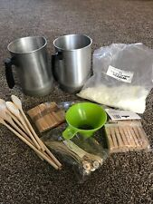 Used Candle Making Kit With Some Extras 2 Pots 1lb Of Golden Wax 104 Wicks More