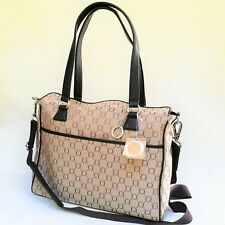 RRP$495 NEW Oroton Signature Diaper Nappy Baby Bag Tote Handbag Canvas Leather