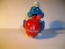 SMURF SCHLUMPF SCHTROUMPF 1 FIRST TEACHER POMME ET FEUILLE ROUGE