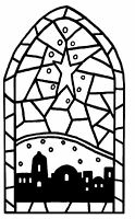 Mini Christmas Stained Glass Unmounted Rubber Stamp - 7128