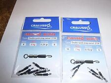 Cralusso double  swivel quicksnap  Quick Snap sizes  8/10.set/2  hooklength