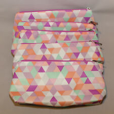 Lot of 5 x Clinique Cosmetic Makeup Bag Zipper Pouch Online Winter 17
