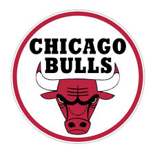 Sticker CHICAGO BULLS NBA Basket - 9cm x 9cm