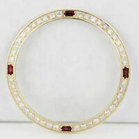 Rolex Custom Gold Bezel w/ Diamond & Ruby for Men's 36mm Watches