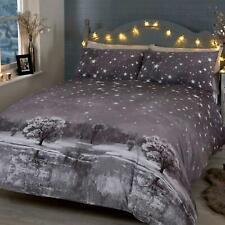 Grey Duvet Covers Christmas Stars Festive Tree Winter Quilt Cover Bedding Sets