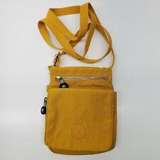 Kipling Yellow Cross Body Organizer Small Purse Bag Nylon