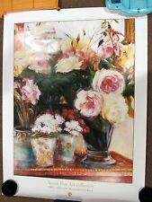 "GREG SINGLEY - PERIWINKLES & ROSES - PRINT LITHO SGP-314 - 30"" x 40"""