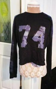 select fashion camo top UK 6 - 8 mesh back women's t shirt Jersey ladies