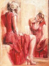 Talantbek Chekirov: The Mirror Fertig-Bild 60x80 Wandbild Mädchen Frau