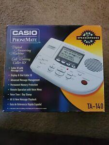 Casio PhoneMate TA-140 Digital Answering Machine In Box tested