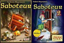 Mayfair Games: Saboteur + Saboteur 2 Card Game Bundle (New)