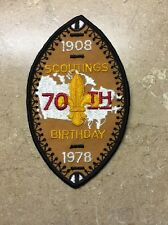 BOY SCOUTS CANADA 1908-1978 SCOUTING'S 70th BIRTHDAY PATCH