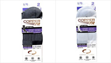 Copper Fit Unisex-Adults Crew Sport Socks-2 Pack, White / Black