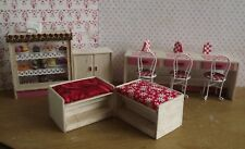 Cake Shop Furniture in light wood for 1/12 scale Dolls House Shop Cafe