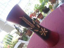 Vase Handmade Ebony wood 14 in High Home Decor. Beautifully