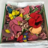 20 Vintage Bouquets Millinery Flowers Hat Doll Making Art Deco Bridal Garland