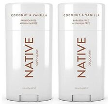 NATIVE Deodorant Coconut & Vanilla Paraben and Aluminum Free 2.65 oz, 2-PACK +🎁
