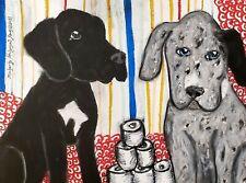 GREAT DANE TP Hoard ACEO PRINT Mini Dog Pop Art Card 2.5 X 3.5 KSAMS Collectible
