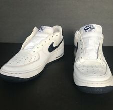 Nike Air Force One 1 White And Blue Low 314192-154 Youth Size 6.5 Y Rare