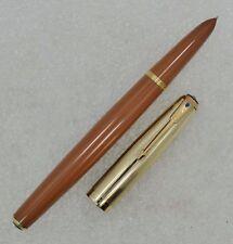 Superb 1947 Parker 51 Buckskin Double Jewel Fountain Pen 14K Gold Filled Cap