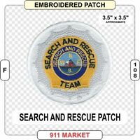 SAR Patch Search and Rescue Team Water Mountain K9 Air Ground & Marine  -  F 108