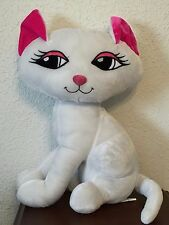 """CUTE WHITE KITTY CAT NEEDS HOME STANDS 19"""" HIGH NOT COUNTING EARS"""