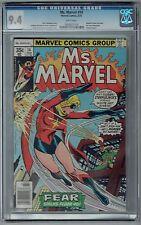 Ms. Marvel #14 CGC 9.4 NM Wp Vs. New Steeplejack Marvel Comics 1978 Dracula App