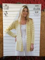 Jumper /& Top DK King Cole 4904 Baby KNITTING PATTERN Baby Lace Panel Cardigans